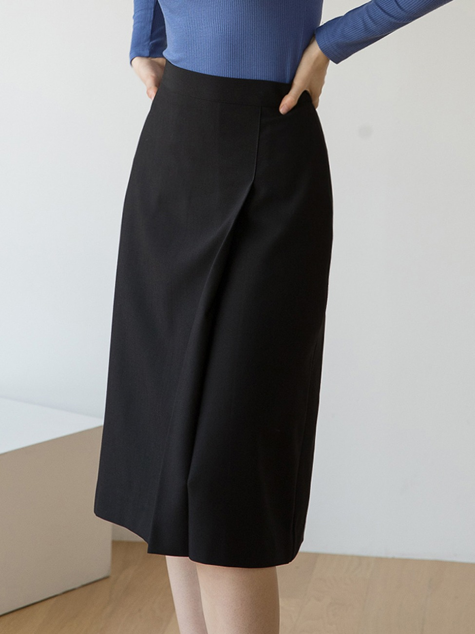 Tuck Banding Skirt Black