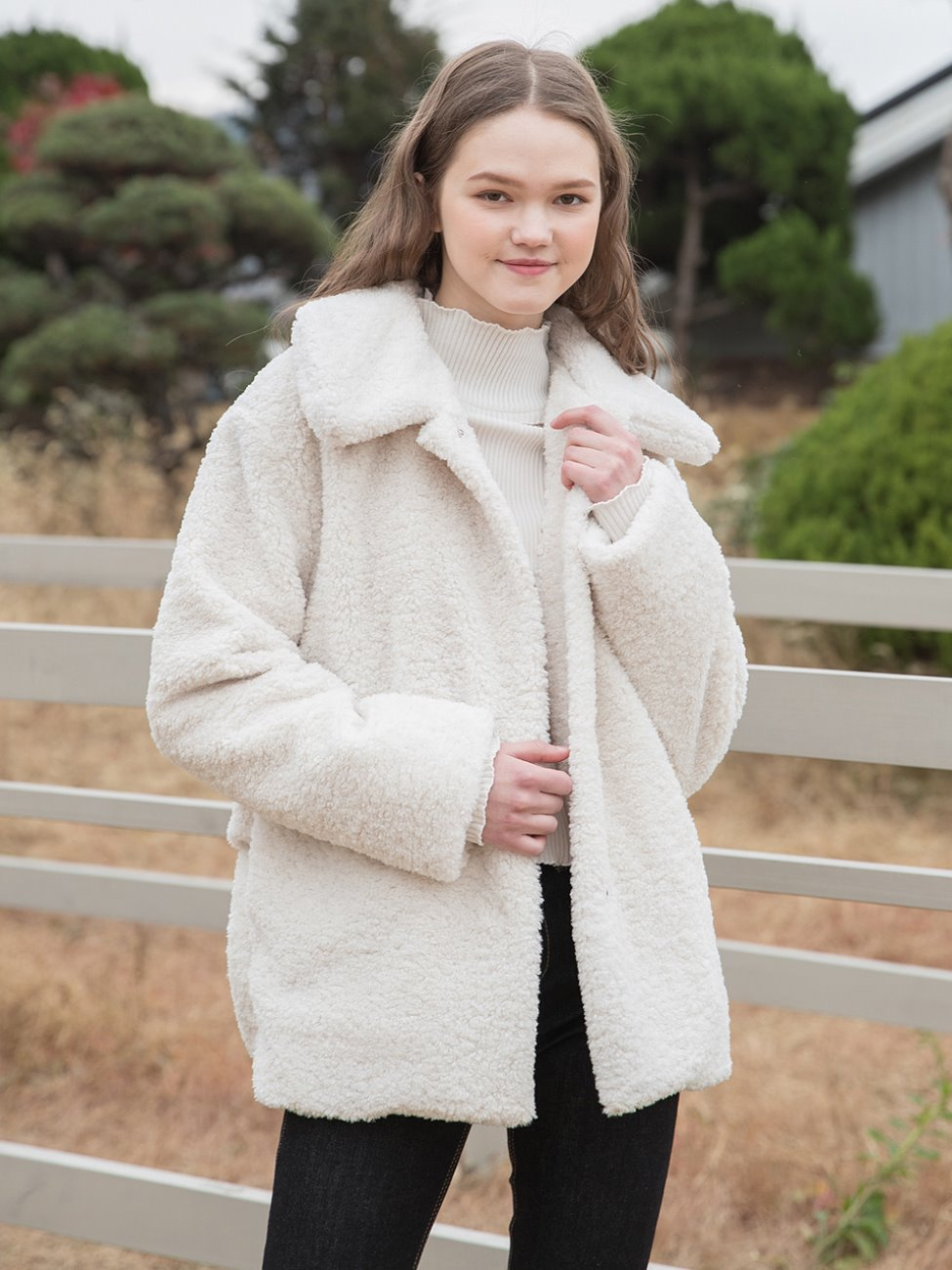 Soft Fur Jacket Ivory